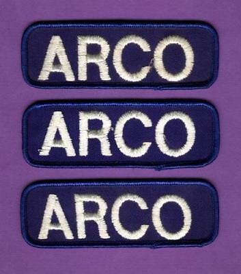 Vintage Arco Service Station Attendants Patches Unused X3