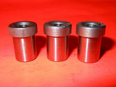 """(Lot of 3) 1/4"""" ID Drill Bushing, Type H Press-Fit Drill Bushings with Head"""