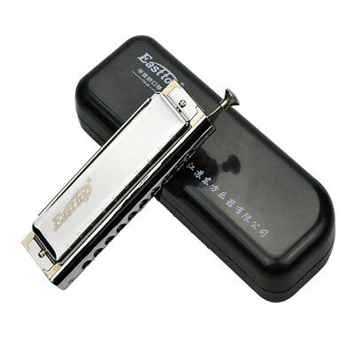 Easttop 10 Holes 40 Reeds Performance Chromatic Harmonica Mouth Music Instrument