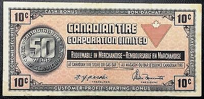 1972 Canadian Tire 10 Cents Note - Great Condition - Free Combined Shipping