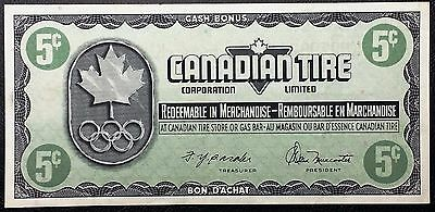 Vintage 1976 Canadian Tire 5 Cents Note ***AU Condition*** Free Combined S/H