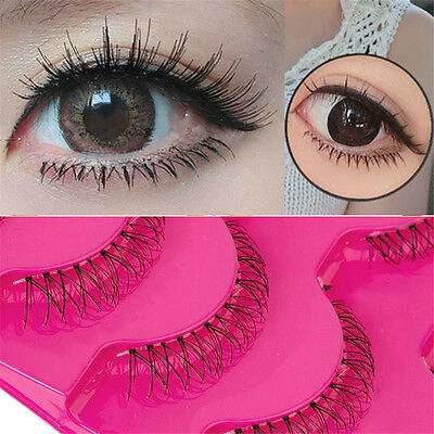6383d286e75 5Pairs Handmade Soft Lower Eye Lashes Under Bottom Natural Cross False  Eyelashes