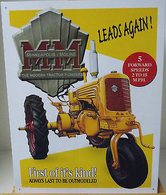 Minnie Mo Model Yt Farm Tractor, Metal Sign, Unisex