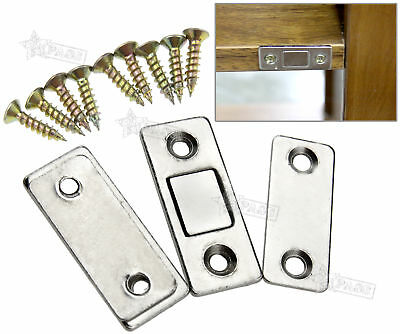 2 x Ultra Thin Door Catch Latch for Furniture Magnetic Cabinet Cupboard Glass