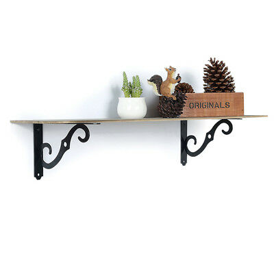 Set of 2 antique style Cast Iron Decorative Scroll Garden RUSTIC Shelf Bracket1