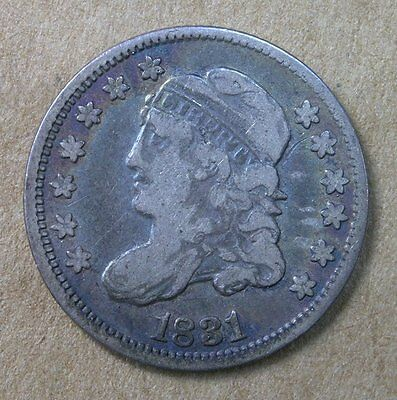 5c 1831 Capped Bust Half Dime Fine Old Album Toning * AvenueCoin