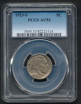 USA, 1923-S Buffalo Nickel PCGS AU53