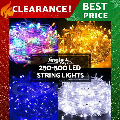 250/ 500 LED Christmas String Lights Fairy Party Wedding Outdoor Garden 4 Colour