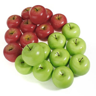 1~10 Large Artificial Fake Red Green Apple Fruits Kitchen Home Decorative DIY UK