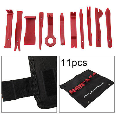 11pc Car Trim Door Panel Removal Molding Set Kit Pouch Pry Tool Interior Van DIY