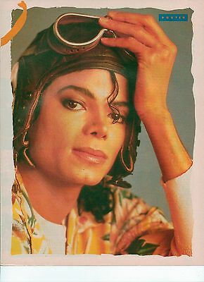 MICHAEL JACKSON in flying gear magazine PHOTO / mini Poster 11x8 inches