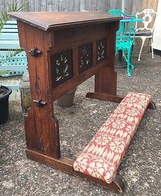 Antique Victorian Religious Church Prayer Stand Kneeler Lecturn