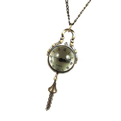 Classic Antique Retro Watch Bell Pendant Sweater Chain for Unisex Necklace