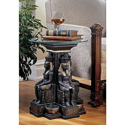 NG30623 - Ramses II Egyptian Sculptural Glass-Topped Table - Exotic Egyption!