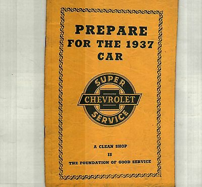 Prepare For The 1937 Chevrolet Sales Promotion Catalog For Chevy Dealers