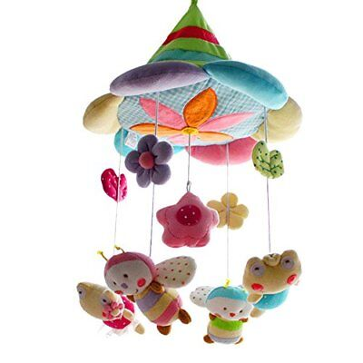 SHILOH Baby Plush Crib Mobile with 60 songs Musical Box and Arm Fairy Green F...