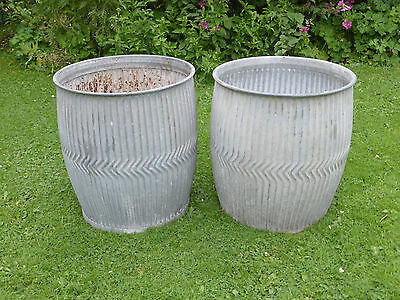 Pair Dolly/Peggy Tub-  Vintage Orig British not Repro. Ideal Planters.