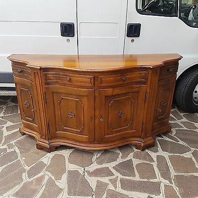 Beautiful Servante Sideboard Serpentine Outline Form Luigi Xv Style