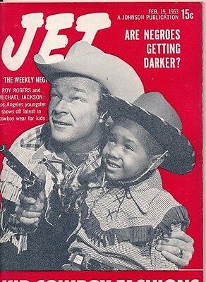 JET MAGAZINE 2/19/1953 ROY ROGERS Cowboy Fashions ARE NEGROES GETTING DARKER?