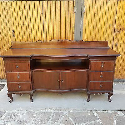 Big Servante Sideboard In Rosewood Sicilian Baroque 1900