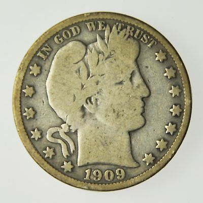 1909 United States Barber Half Dollar Silver Coin