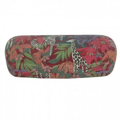 Gisela Graham Multi-Colour PU Printed Safari Flowers Glasses Hard Case