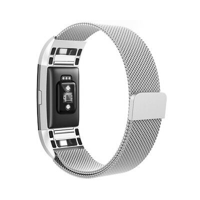 Milanese Loop Metal Magnetic Mesh Band Strap Bracelet for Fitbit Charge 2 TH642