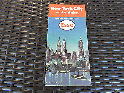 Vintage Esso 1951 New York City & Vicinity Highway Road Map