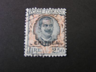 *ERITREA, SCOTT # 101,2.50 Lira VALUE 1926 ITALY STAMPS OVPT KING HUMBERT I USED