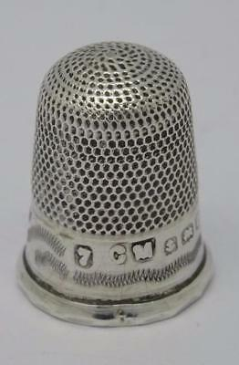 **ANTIQUE ENGLISH HALLMARKED STERLING SILVER THIMBLE c1911*