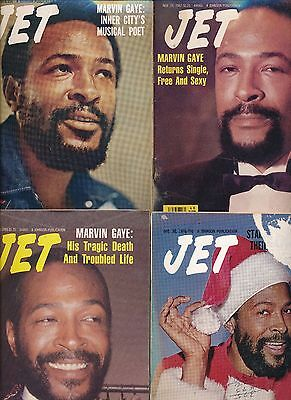 LOT(6) MARVIN GAYE JET MAGAZINES 1973 1976 1982 1983 1984 1993 3 no labels