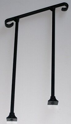 """24""""  A-Justa-Rail with mounting shoe Wrought Iron stair Railing step grab Steel"""