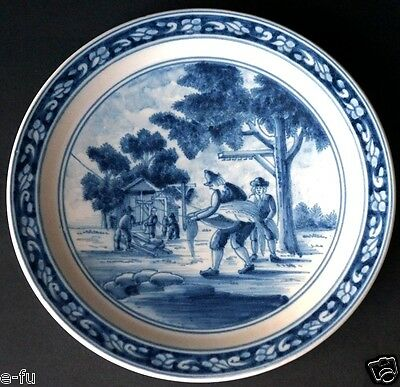 "Very Rare Vintage Classic Dutch MAKKUM 8.5"" Wall Plate Beautiful Color & Detail"