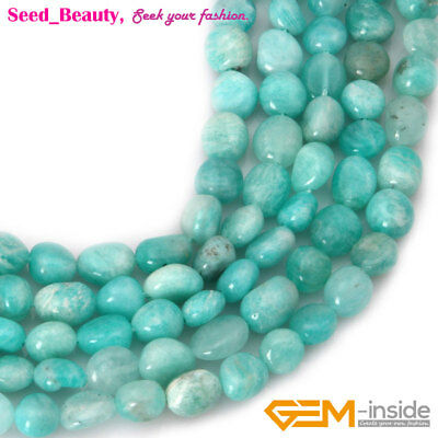 6x8mm Natural Gemstone Freeform Potato Amazonite Beads for Jewelry Making 15""