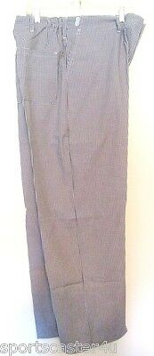 """NEW Checkered Chefs Multipurpose Pants PolyCotton Stretch Waist 40-42"""" Length 32"""