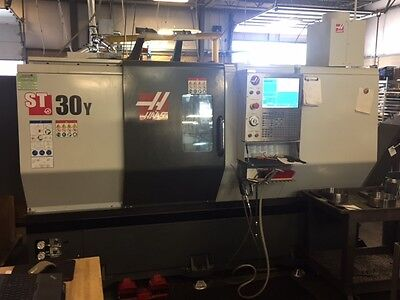 2016 Haas ST-30Y CNC Lathe Y-Axis Milling Gearbox Tailstock Conveyor, 218 Hours