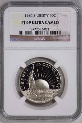 1986 S Statue of Liberty Proof Half Dollar PF69 Ultra Cameo NGC 50c US Mint Coin