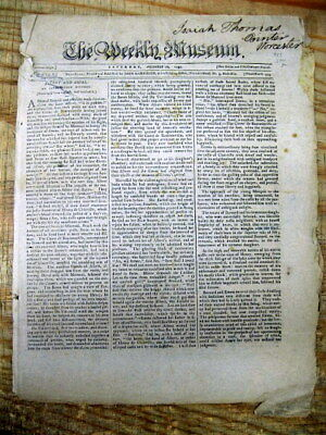 1797 newspaper SLAVE SHIP CAPTAIN cruelty -Throws 100 slaves overboard to drown