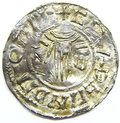 Rare Anglo Saxon Silver Penny of king Æthelred II 978-1013 AD Possibly Maldon?