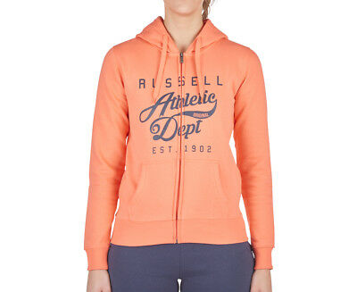 Russell Athletic Women's Rosette Zip Thru Hoodie - Living Coral