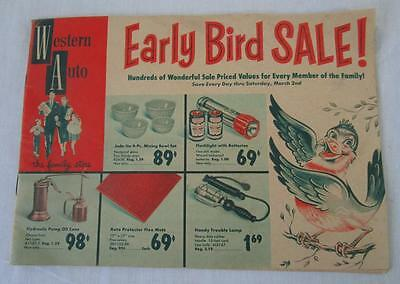 1957 Western Flyer Bicycle Auto Catalog Early Bird Sale