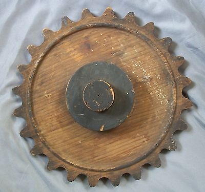 Antique Wooden Foundry Mold For A Large Cast Iron Gear Steam Punk
