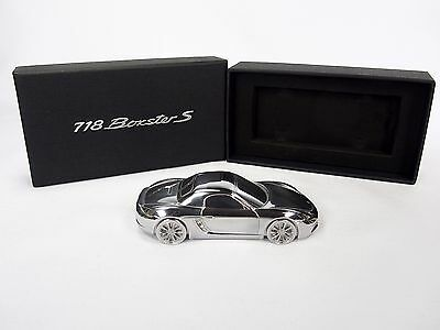 PORSCHE 718 Boxstar S LIMITED EDITION METAL PAPERWEIGHT with BOX Excellent!
