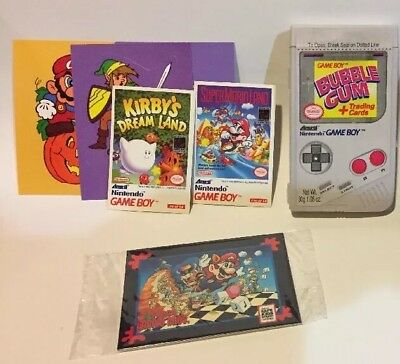 Vtg NINTENDO GAMEBOY Bubble Gum Lot Sega Game Gear Cards Candy Container Rare