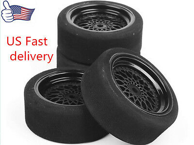 US 1:10 on-road Racing Car on road 12mm Hex Unique Foam Tires 4PCS For Scale