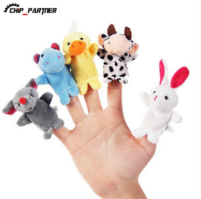 10Pcs Family Finger Puppets Cloth Doll Baby Educational Hand Animal Toy Cartoon