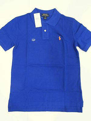 New with tag NWT Boys Ralph Lauren Royal Blue Short Sleeve Polo Summer Shirt M L