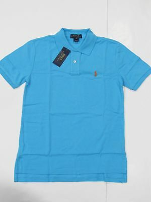 New with tag NWT Boys Ralph Lauren Turquoise Blue Short Sleeve Polo Shirt M L XL