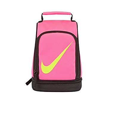 NWT ☀NIKE☀ NEON PINK Girls New INSULATED DOME Soft LUNCH BOX TOTE BAG
