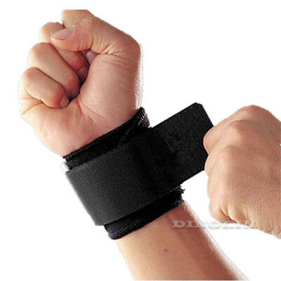 Men Training Weight Lifting Wrist Wrap Bandage Hand Support GYM Strap Grip Brace